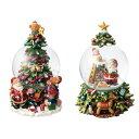 クリスマス スノードーム オルゴール ツリー X'mas かわいい インテリア 飾り オブジェ プレゼント マークス