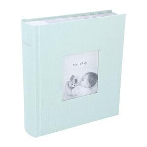 アルバム 写真 大容量 ポストカードサイズ 200枚 収納可 フォトフレームアルバム ペールミント マークス