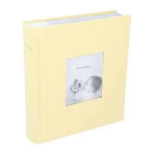 アルバム 写真 大容量 ポストカードサイズ 200枚 収納可 フォトフレームアルバム ペールイエロー マークス