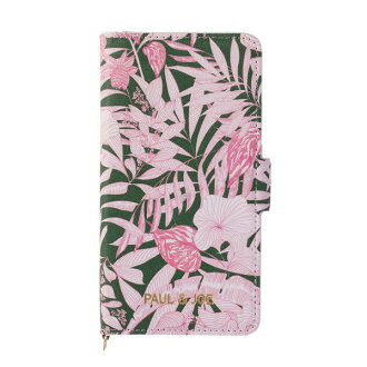 Smartphone case notebook type PAUL & JOE tropical jungle marks-adaptive for pole and Joe iPhone8 7 6s for 6
