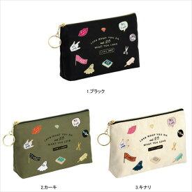 ポーチ・アイコン刺繍/Zakka Collection(雑貨コレクション)【マークス・オリジナル コスメ 小物入れ】