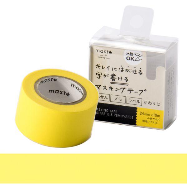 水性ペンで書けるマスキングテープ/小巻24mm幅/「マステ」/イエロー【マークス・オリジナル 付箋 幅広】