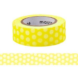 マスキングテープ 手帳 水性ペンで書けるマスキングテープ 小巻 「マステ」 ドット イエロー 黄色 きいろ マークス