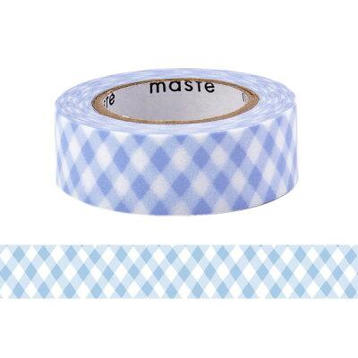 マスキングテープ/手帳/水性ペンで書けるマスキングテープ/小巻/「マステ」/チェック/ブルー/青/あお/マークス