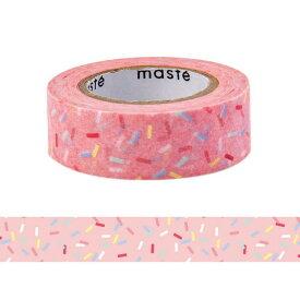 マスキングテープ 手帳 水性ペンで書けるマスキングテープ 小巻 「マステ」 コンフェッティ 紙吹雪 カラフル ピンク マークス