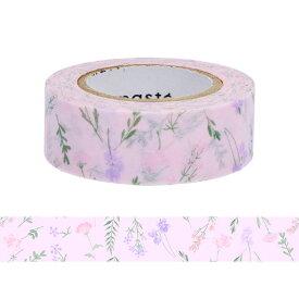 マスキングテープ 手帳 水性ペンで書けるマスキングテープ 小巻 「マステ」 フラワー 総柄 ボタニカル ピンク マークス