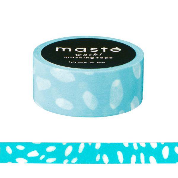 マスキングテープ ベーシック 「マステ」 ハンドペイント ドロップドット スカイブル− 手描き シール 海外限定デザイン