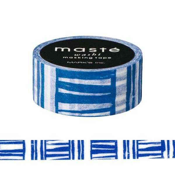 マスキングテープ ベーシック 「マステ」 ハンドペイント ブラッシュボーダー ネイビー 手描き シール 海外限定デザイン