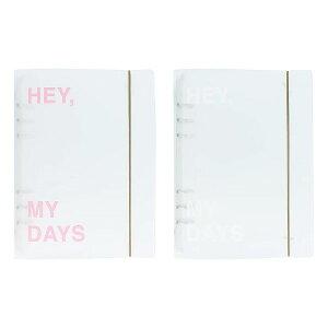 リングバインダー・A5 半透明 ファイル システム手帳 韓国 文具 おしゃれ かわいい スタディプランナー PAPERIAN ぺーパーリアン