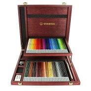 カーブオテロ/60色セット/ウッドケース/色鉛筆/4.4mm/水彩パステル色鉛筆/専用シャープナー・消しゴム・ぼかしツール付/STABILO(スタビロ)