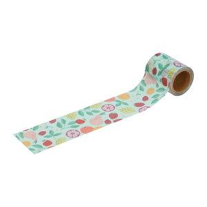 養生テープ フルーツ総柄 マークス かわいい おしゃれ 梱包 ガムテープ DIY 女子