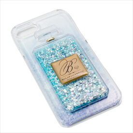 iPhone7 6s 6 対応 ケース 背面 おしゃれ カバー Brilliant ブリリアント パフュームボトル ブルー マークス