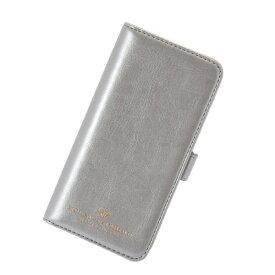 iPhone8 7 6S 6 アイフォン 対応 スマホケース 手帳型 Brilliant ブリリアント フラワーダイヤ ミラー付き フラップ シルバー マークス