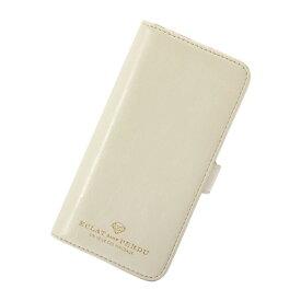iPhone8 7 6S 6 アイフォン 対応 スマホケース 手帳型 Brilliant ブリリアント フラワーダイヤ ミラー付き フラップ ホワイト マークス