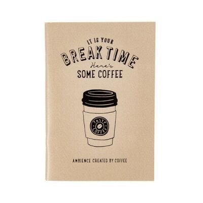 ノート/罫線/おしゃれ/A6/コーヒー/ベージュ/BREAKTIME/ブレイクタイム/マークス