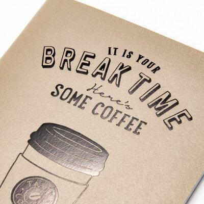 ノート罫線おしゃれA6コーヒーベージュBREAKTIMEブレイクタイムマークス