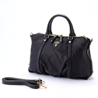 ナイロンアオリ 2way shoulder bag BT black macaronic マカロニック cute stylish lady's marks