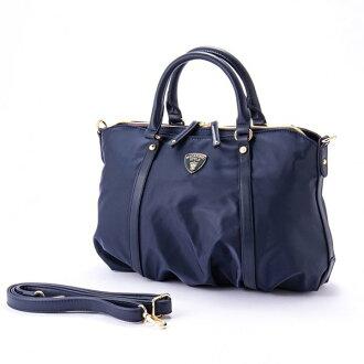 ナイロンアオリ 2way shoulder bag BT navy macaronic マカロニック cute stylish lady's marks