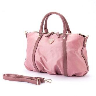 ナイロンアオリ 2way shoulder bag BT pink macaronic マカロニック cute stylish lady's marks