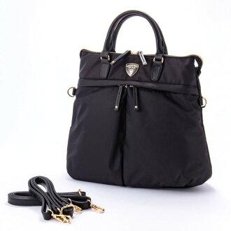 ナイロンアオリ 3way rucksack BT black macaronic マカロニック commuting cute stylish lady's marks