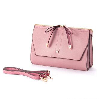 W ribbon 2 flap shoulder bag pink ESMERALDO happiness エスメラルドハピネス cute stylish lady's marks