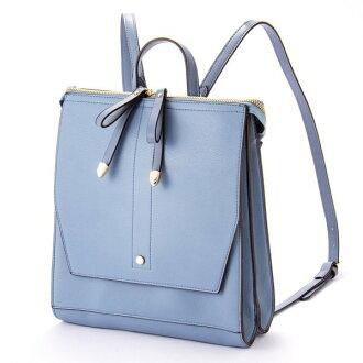 W ribbon 2 flap backpack rucksack blue ESMERALDO happiness エスメラルドハピネス cute stylish lady's marks
