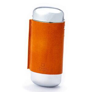 メタル2 メガネケース 眼鏡 サングラス 本革 レザー オレンジ PEDIR ペディール マークス