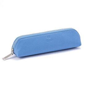 プリズム ペンケース 筆箱 ライトブルー 水色 PEDIR ペディール 馬蹄 革 おしゃれ マークス