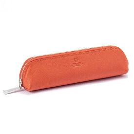 プリズム ペンケース 筆箱 オレンジ PEDIR ペディール 馬蹄 革 おしゃれ マークス