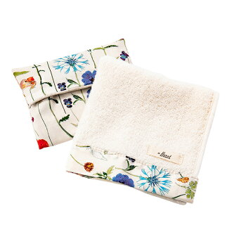 FLORET LONDON flow let London gift set hand towel handkerchief tissue cover ivory Mother's Day gift liberty LIBERTY