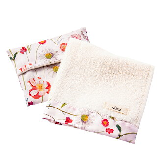 FLORET LONDON flow let London gift set hand towel handkerchief tissue cover pink Mother's Day gift liberty LIBERTY
