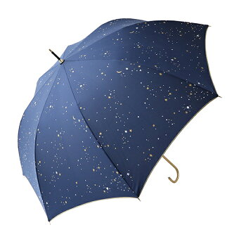It is a fair or rainy weather combined use length umbrella COSMIC .2 color navy mark more than 90% of umbrella Lady's UV cut rates