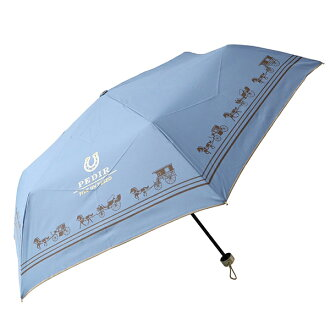 Fair or rainy weather combined use PEDIR ペディールブルーマークス lightweight more than 90% of folding umbrella Lady's UV cut rates