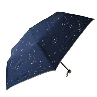 Fair or rainy weather combined use COSMIC .2 color navy marks lightweight more than 90% of folding umbrella Lady's UV cut rates