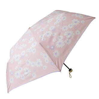 Fair or rainy weather combined use flower pink marks lightweight more than 90% of folding umbrella Lady's UV cut rates