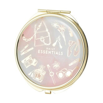 Cosmetic fashion pink mint marks with the compact mirror mini-mirror magnifying glass