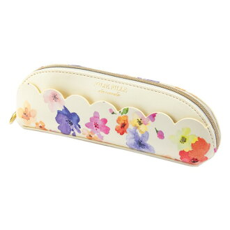 Stylish ivory JOLIE FILLE Joly フィーユ シャルマントマークス which pen case pencil case flower scallop shell floral design has a cute