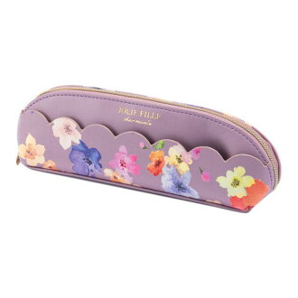 Stylish pink JOLIE FILLE Joly フィーユ シャルマントマークス which pen case pencil case flower scallop shell floral design has a cute
