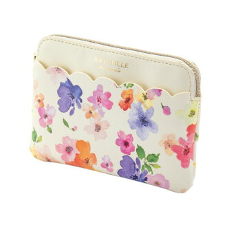 Stylish ivory JOLIE FILLE Joly フィーユ シャルマントマークス which tissue porch pocket tissue case flower scallop shell floral design has a cute
