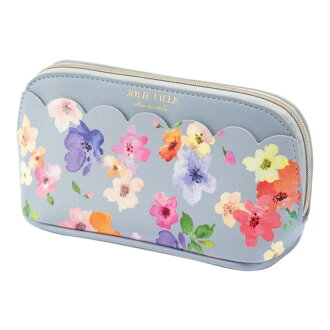 Stylish gray JOLIE FILLE Joly フィーユ シャルマントマークス which the porch cosmetics makeup porch flower scallop shell floral design with the gusset has a cute