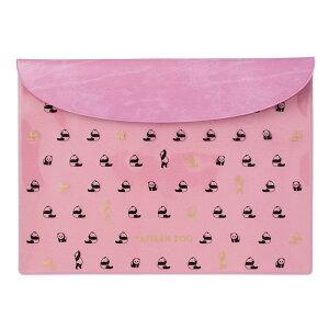 フラットケース ステーショナリーケース A5 パターン ズー パンダ かわいい ピンク マークス