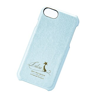 Case pastel blue marks for smartphone cover back case Lilou cat Lil cat Ai Jupiter phone iPhone-adaptive for iPhone8 7 6s for 6