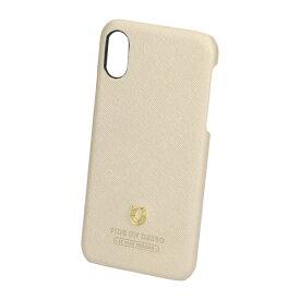 iPhoneXS X アイフォン スマートフォン 対応 スマホケース 背面ケース シルエット ゴールド PEDIR ペディール 馬蹄 マークス