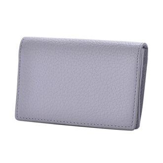 ドラリーノレザーネームカードケース card case gray PEDIR ペディール cowhide genuine leather marks