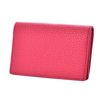 ドラリーノレザーネームカードケース card case live Lee pink PEDIR ペディール cowhide genuine leather marks