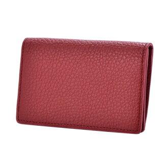 ドラリーノレザーネームカードケース card case red PEDIR ペディール cowhide genuine leather marks