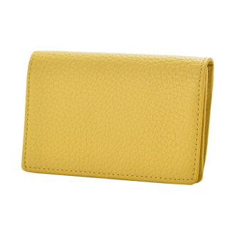 ドラリーノレザーネームカードケース card case yellow PEDIR ペディール cowhide genuine leather marks