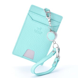 Single pass case pass holder commuter pass mint PEDIR ペディール cowhide genuine leather marks belonging to ドラリーノレザーリール