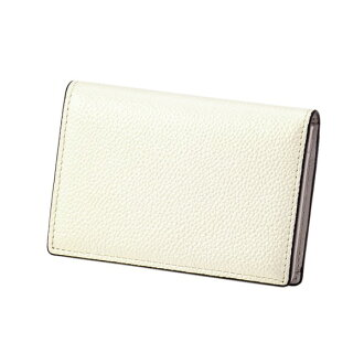 Pearl 2 name card case ivory EDITO365 card case fashion cute genuine leather Lady's marks