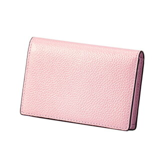 Pearl 2 name card case pink EDITO365 card case fashion cute genuine leather Lady's marks